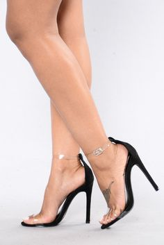 - Available in Rose Gold, Black, and Denim - Single Sole Heel - PVC Straps - Adjustable Buckle - Metallic - Faux Suede - 4 Inch Heel Sexy Legs And Heels, Hot High Heels, Womens High Heels, Stilettos, Stiletto Heels, Pumps Heels, Shoes Sandals, Pink Heels, Black Heels