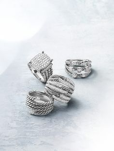 Gorgeous diamond rings.