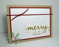 CAS by Chris: Holly Jolly Greetings & Christmas Greetings Thinlits - all from Stampin' Up!