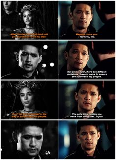"#Shadowhunters 2x18 ""Awake, Arise, or Be Forever Fallen"" - ""I can't have both."" - #MagnusBane #SeelieQueen"