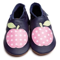 Apple Navy/polka dot