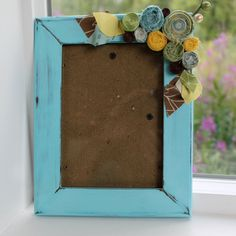 Gorgeous fabric embellished hand painted picture frames...