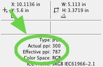 Checking actual resolution of placed images in Adobe InDesign