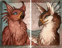 Form a pair by Chaluny.deviantart.com on @deviantART Gryphon griffin