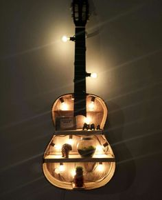 This recycled guitar shelf rocks!