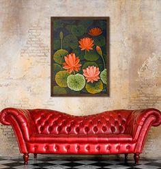 Artist Chandru Hiremath - Limited edition prints on Canvas at www. - Artist Chandru Hiremath – Limited edition prints on Canvas at www. Madhubani Art, Madhubani Painting, Ganesha Painting, Pichwai Paintings, Indian Art Paintings, Indian Artwork, Indian Folk Art, Lotus Painting, Wood Painting Art