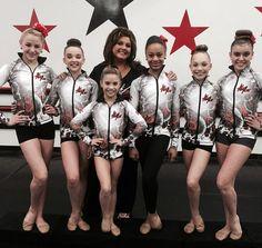 Junior Elite Conpetition Team: Chloe, Kendall, Mackenzie, Nia, Maddie, and Kalani