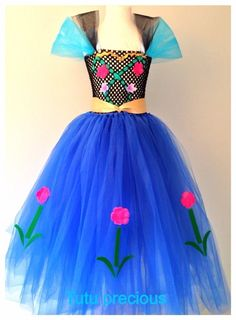 Anna (Frozen) Inspired Tutu Dress - Dressing up / Costume Olaf Costume, Frozen Costume, Dress Up Costumes, Disney Costumes, Diy Tutu, Princess Tutu Dresses, Photos Booth, Frozen Dress, Halloween Costumes For Kids