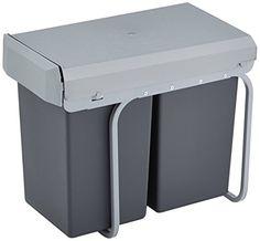Wesco 12381 - Cubo de basura integrado (2 compartimentos de 15 L, 39,5 x 26,5 x 45 cm), color negro Wesco http://www.amazon.es/dp/B001MWQZV8/ref=cm_sw_r_pi_dp_9DXJvb0Y05N9C