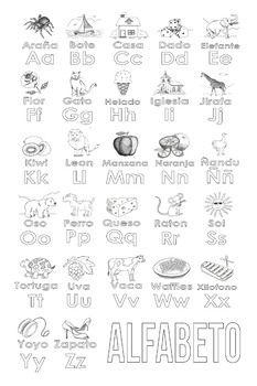 Spanish Alphabet Coloring Page Alphabet Coloring Pages Alphabet Coloring Spanish Alphabet
