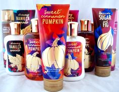 Bath and Body Works lotions..