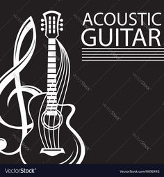 Vector image of Poster with guitar Vector Image, includes logo, black, background, wallpaper & pattern. Illustrator (.ai), EPS, PDF and JPG image formats.