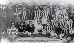 The Panionios Soccer team in Smyrna with the Aydin Boy Scouts days before the scouts were massacred by Turkish cetes. Ottoman Empire, Old City, Boy Scouts, Respect, Red And Blue, Greece, Asia, Soccer, Club