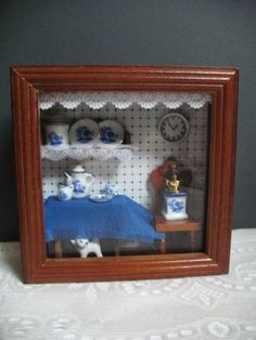 Miniature Shadow Box Display Reutter by TeaTimeVintageShop on Etsy