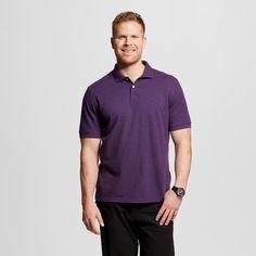 Men's Big & Tall Pique Polo Shirt Purple XL Tall - Merona, Size: XL T