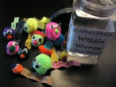 wiggle worm jar, perfect for my singing time wigglers! #primary