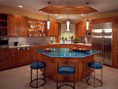 hexagonal kitchen idland   kitchen island 27 30 Kitchen Islands Designs Adding a Modern Touch to ...