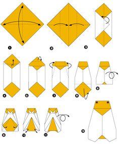 Cigale en origami