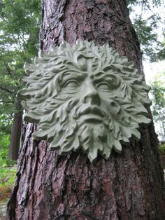 Garden Green Man Concrete Cement  Face by WestWindHomeGarden, $29.95