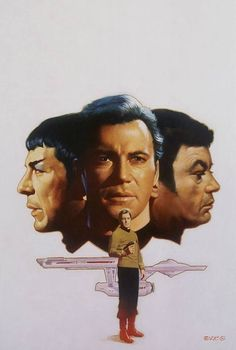 Star Trek: Kirk, Spock, and Bones Star Trek Original Series, Star Trek Series, Tv Series, Star Wars, Star Trek Tos, Christopher Eccleston, My Sun And Stars, Love Stars, Akira