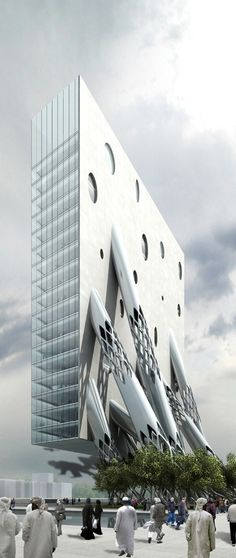 Al Rostamini Headquarters, Dubai, UAE by MAD Architects :: proposal