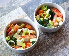 marenerdvik – Lakseretten alle har spurt etter Lchf, Fruit Salad, Real Food Recipes, Salmon, Food And Drink, Stuffed Peppers, Fish, Dinner, Ann