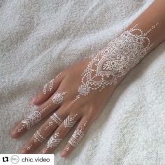 Beautiful henna what do you guys think it be cool if I started a account just my own tutorials?#Repost @chic.video with @repostapp ・・・ ⚜⚜⚜ Love white henna!!! This design is gorgeous.  Credit: @syraskins  Double tap! Tag a friend! FOLLOW!!! ✂️ @chic.video  @chic.video  @chic.video  #diy #video #follow4follow #like4like #love #smile #happy #family #friends #girl #style #fashion #chic #beautiful #fun #best #art #artist #draw  #paint #color #colorful #decor #creative #talent ...