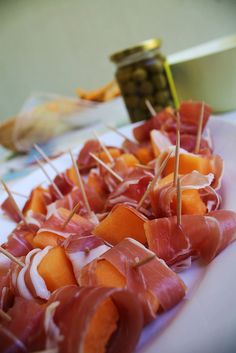 I've long thought that whoever came up with prosciutto and melon should be canonized--at least!