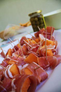 prosciutto and melon, delicious!