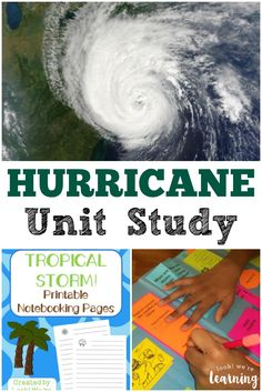 Unit Studies: Hurricane Unit Study Learn about extreme summer weather with this hurricane unit study for kids!Learn about extreme summer weather with this hurricane unit study for kids! Weather For Kids, Weather Activities For Kids, Preschool Weather, Weather Science, Weather Unit, Teaching Weather, Weather Storm, Science Lessons, Science Activities