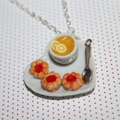 tea and cookies necklace