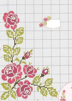 cross stitch flower graphics Fauna and Flora are two terms frequently heard by people who spend amount of time in … Cross Stitch Rose, Cross Stitch Borders, Cross Stitch Flowers, Cross Stitch Designs, Cross Stitch Embroidery, Hand Embroidery, Cross Stitch Patterns, Crochet Motif, Fabric Painting