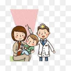 Baby vaccination illustrations