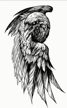 Crow Tattoo For Men, Crow Tattoo Design, Viking Tattoo Design, Tattoos For Guys, Dark Tattoos For Men, Bird Tattoo Men, Tattoo Man, Viking Compass Tattoo, Norse Tattoo