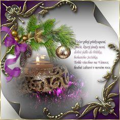 Vánoční přání s říkankou | vánoční blog Christmas Paper, Christmas And New Year, Christmas Cards, Paper Frames, Advent, 3 D, Table Decorations, Blog, Home Decor