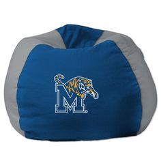 College NCAA Bean Bag Chair NCAA Team: Memphis - http://delanico.com/bean-bag-chairs/college-ncaa-bean-bag-chair-ncaa-team-memphis-522789402/