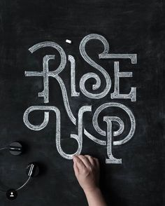 Rise Up! It's the weekend! Artwork via @battery_full #todaystype #goodtype…