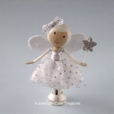 This Wee Cute Fairy is perfect for adding extra Christmas glamour to anywhere in the home. (I have one on my kitchen shelf all year round!). She