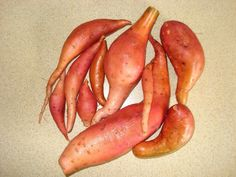 Growing your own sweet potatoes is such fun and it can be done in a small garden in a container. Then you know that they are truly organically grown and they're so fresh and such healthy food, too. Growing Sweet Potatoes, Grow Your Own, Potato Planter, Harvest, Carrots, Healthy Recipes, Healthy Food, Planters, Fresh