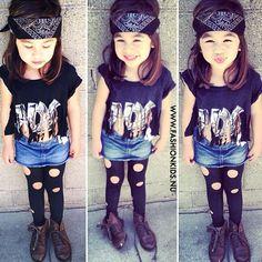 #kids #fashion amaia liked this girls style. lol