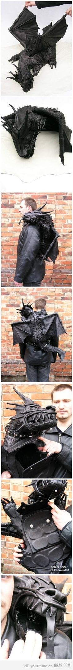Awesome backpack is awesome. Dragon Backpack!