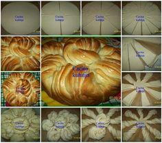 Cacina kuhinja: Posna lisnata pogaca od uvijenih spirala / Fasting puff cake of twisted spiral