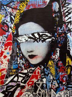 HUSH geisha-like women, fusing both Eastern characteristics with western graffiti and street art. Graffiti Art, Graffiti Quotes, Graffiti Painting, Art Quotes, Art Pop, Japanese Graffiti, Illustrations, Illustration Art, Geisha Art