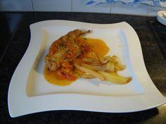 Recept voor Konijn met groenten en sinaasappelsap. Meer originele recepten en…