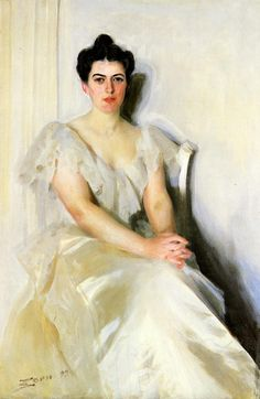 """Anders Zorn (1860-1920) Frances Cleveland Oil on canvas 1899 348.488 x 234.188 cm (137.2"""" x 92.2"""")"""