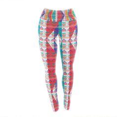 "Miranda Mol ""Triangle Illusion"" Multicolor Geometric Yoga Leggings from KESS InHouse #kessinhouse #kess #leggings #yoga #pilates #aerobics #sport #freetime #mirandamol"
