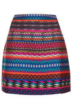 Patterned Blanket Aline Skirt