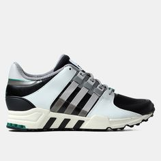 huge discount 23328 8cd30 Adidas Originals Equipment Running Support 93 Shoes - Black Light Grey