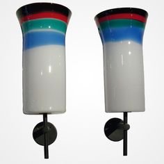 Pair of Sconces by Massimo Vignelli for Venini