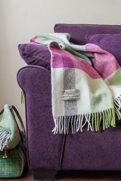 Mediterranean Throw in assorted blocks of vivid colours. #throws #blankets